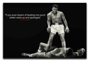 Muhammad Ali Dream Of Beating Me Canvas Print or Poster  - Canvas Art Rocks - 1