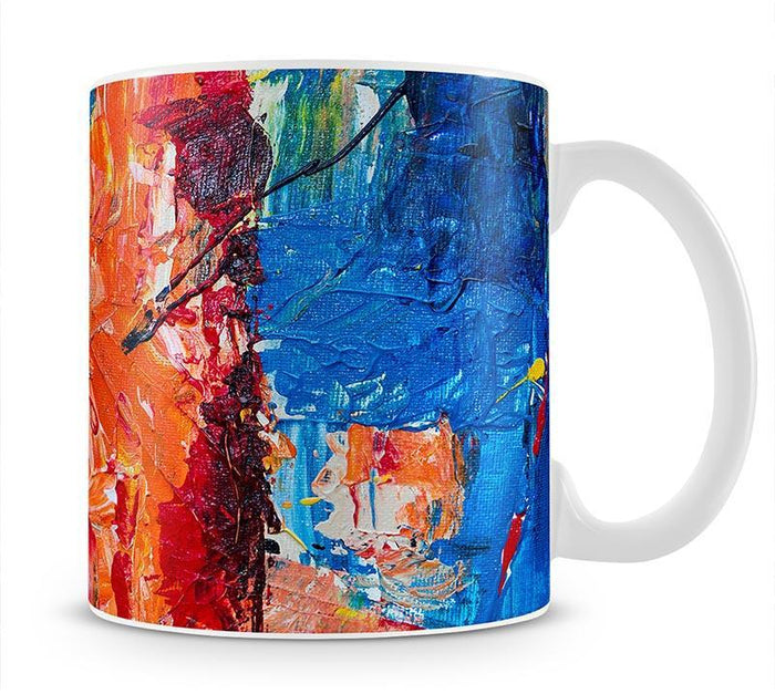 Multicolored Abstract Painting Mug