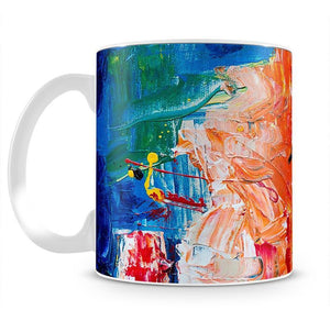 Multicolored Abstract Painting Mug - Canvas Art Rocks - 2