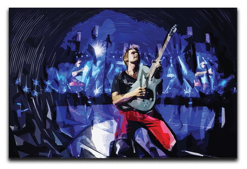 Matt Bellamy from Muse Print - Canvas Art Rocks - 1