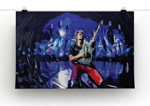 Matt Bellamy from Muse Print - Canvas Art Rocks - 2