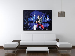 Matt Bellamy from Muse Print - Canvas Art Rocks - 4
