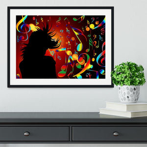 Music Note Dancing Framed Print - Canvas Art Rocks - 1