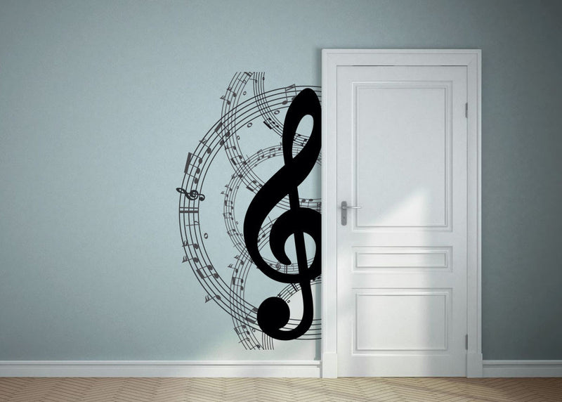 Musical Note Circle Wall Decal - Canvas Art Rocks