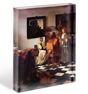 Musical Trio by Vermeer Acrylic Block - Canvas Art Rocks - 1