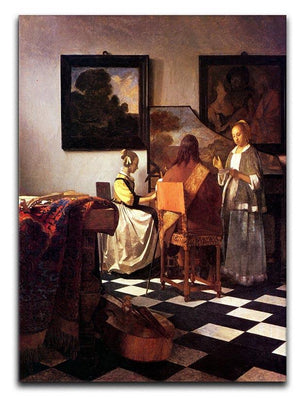 Musical Trio by Vermeer Canvas Print or Poster - Canvas Art Rocks - 1