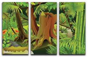 Mystic Jungle 3 Split Panel Canvas Print - Canvas Art Rocks - 1