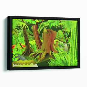 Mystic Jungle Floating Framed Canvas