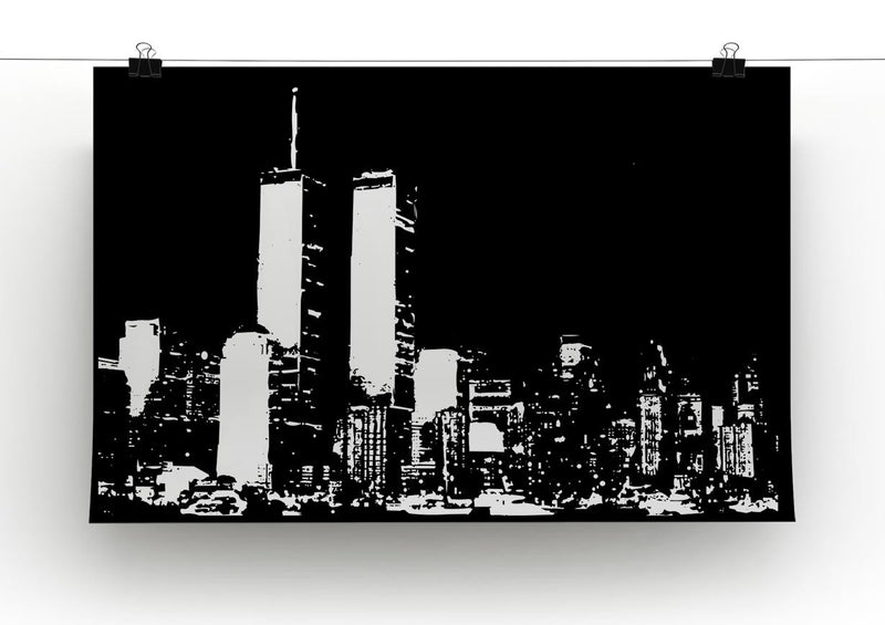 New York Sky Print - Canvas Art Rocks - 2