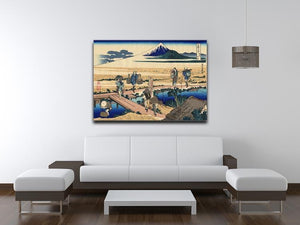 Nakahara in the Sagami province by Hokusai Canvas Print or Poster - Canvas Art Rocks - 4