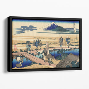 Nakahara in the Sagami province by Hokusai Floating Framed Canvas