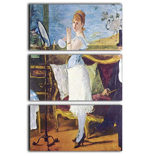 Nana by Manet 3 Split Panel Canvas Print - Canvas Art Rocks - 1