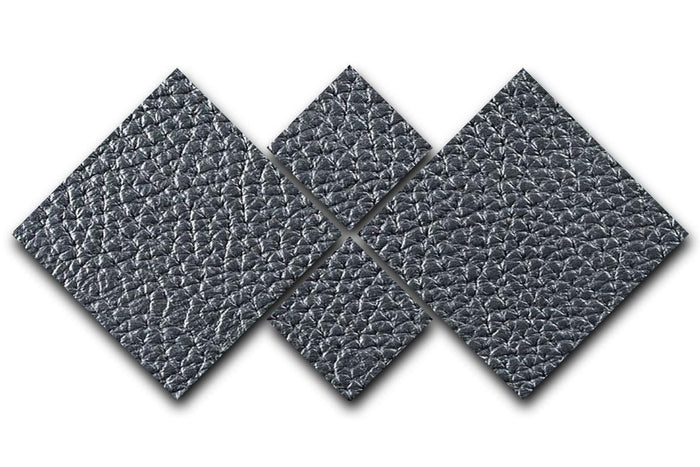 Natural qualitative black leather 4 Square Multi Panel Canvas