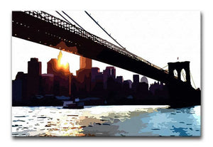 New York Brooklyn Bridge Print - Canvas Art Rocks - 1