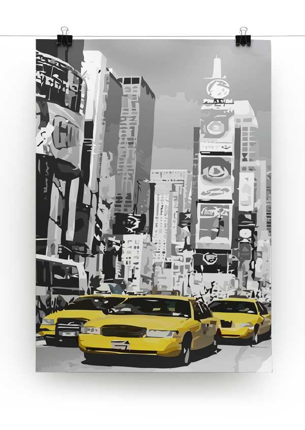 Poster New York Taxi.New York Yellow Taxis Canvas Print Poster Canvas Art Rocks