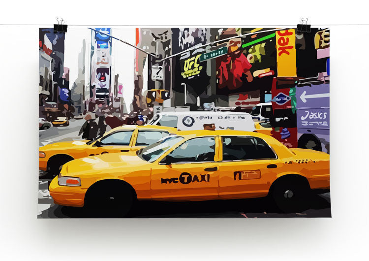 Poster New York Taxi.New York Taxis Times Square Canvas Print Poster Canvas Art Rocks