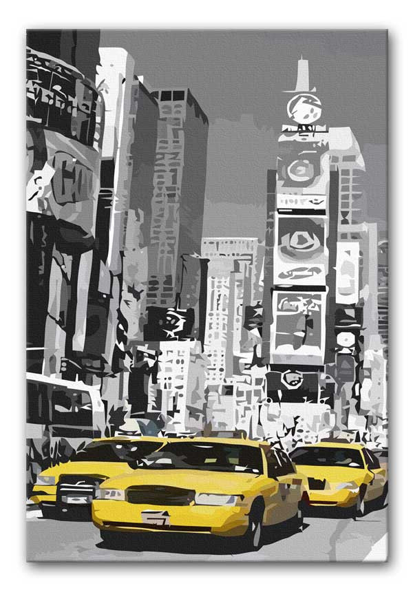 New York Yellow Taxis Print - Canvas Art Rocks - 1