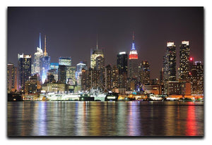 New Jersey Weehawken waterfront Canvas Print or Poster  - Canvas Art Rocks - 1