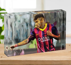 Neymar Acrylic Block - Canvas Art Rocks - 2