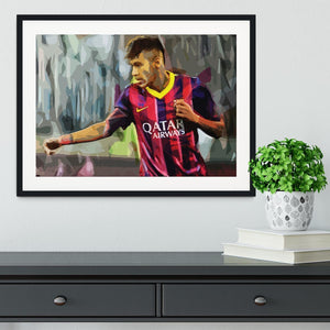 Neymar Framed Print - Canvas Art Rocks - 1