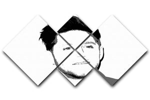 Niall Horan of One Direction Black and White Pop Art 4 Square Multi Panel Canvas  - Canvas Art Rocks - 1