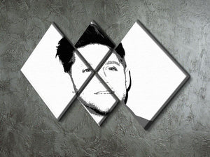 Niall Horan of One Direction Black and White Pop Art 4 Square Multi Panel Canvas - Canvas Art Rocks - 2