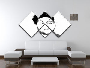 Niall Horan of One Direction Black and White Pop Art 4 Square Multi Panel Canvas - Canvas Art Rocks - 3