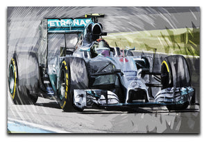 Nico Rosberg Formula 1 Print - Canvas Art Rocks - 1