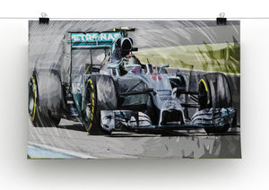 Nico Rosberg Formula 1 Print - Canvas Art Rocks - 2