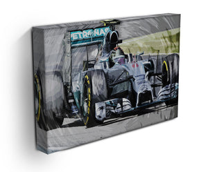 Nico Rosberg Formula 1 Print - Canvas Art Rocks - 3