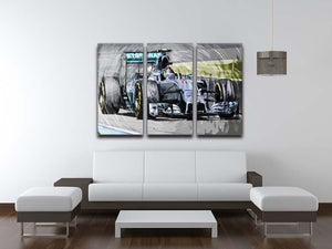 Nico Rosberg Formula 1 3 Split Panel Canvas Print - Canvas Art Rocks - 3