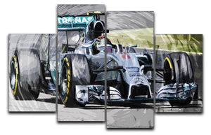 Nico Rosberg Formula 1 4 Split Panel Canvas  - Canvas Art Rocks - 1