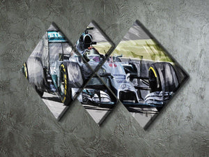 Nico Rosberg Formula 1 4 Square Multi Panel Canvas - Canvas Art Rocks - 2