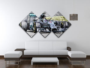 Nico Rosberg Formula 1 4 Square Multi Panel Canvas - Canvas Art Rocks - 3