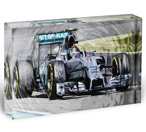 Nico Rosberg Formula 1 Acrylic Block - Canvas Art Rocks - 1