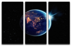 Night in planet 3 Split Panel Canvas Print - Canvas Art Rocks - 1