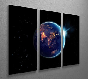 Night in planet 3 Split Panel Canvas Print - Canvas Art Rocks - 2