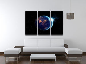 Night in planet 3 Split Panel Canvas Print - Canvas Art Rocks - 3