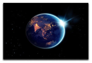 Night in planet Canvas Print or Poster  - Canvas Art Rocks - 1