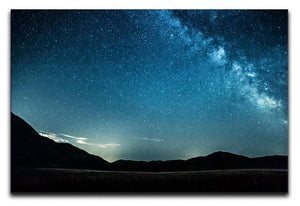 Night sky with stars milky way over mountains Canvas Print or Poster  - Canvas Art Rocks - 1