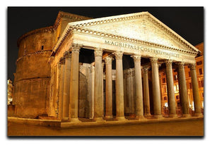 Night view of Pantheon Rome Canvas Print or Poster  - Canvas Art Rocks - 1