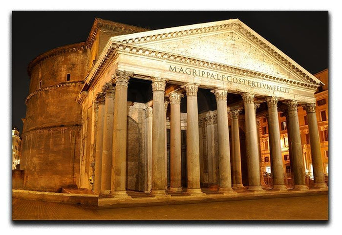 Night view of Pantheon Rome Canvas Print or Poster