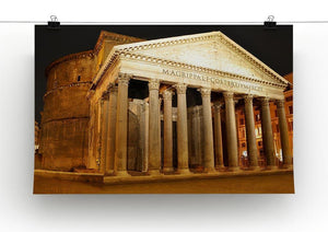 Night view of Pantheon Rome Canvas Print or Poster - Canvas Art Rocks - 2