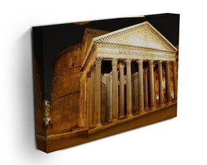 Night view of Pantheon Rome Canvas Print or Poster - Canvas Art Rocks - 3