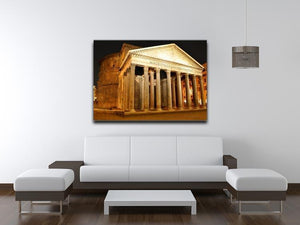 Night view of Pantheon Rome Canvas Print or Poster - Canvas Art Rocks - 4