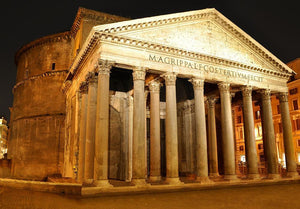 Night view of Pantheon Rome Wall Mural Wallpaper - Canvas Art Rocks - 1