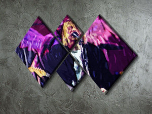 Nirvana Kurt Cobain 4 Square Multi Panel Canvas - Canvas Art Rocks - 2