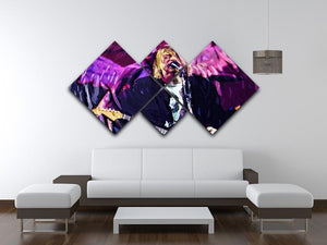 Nirvana Kurt Cobain 4 Square Multi Panel Canvas - Canvas Art Rocks - 3