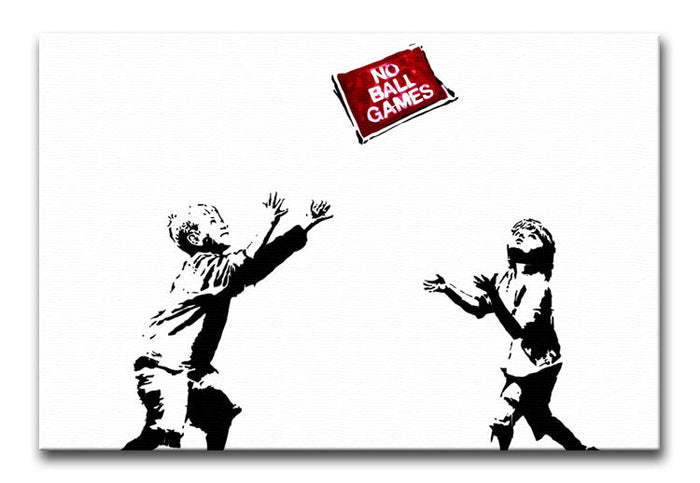 Banksy No Ball Games Canvas Print or Poster