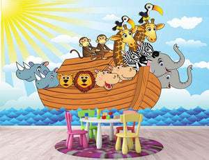 Noah Ark Wall Mural Wallpaper - Canvas Art Rocks - 2